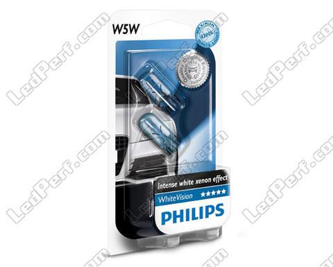 pack of 2 philips whitevision halogen sidelights white base w5w for sidelights. Black Bedroom Furniture Sets. Home Design Ideas