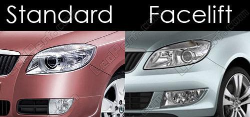 Pack Led License Plate For Skoda Fabia 2 Facelift