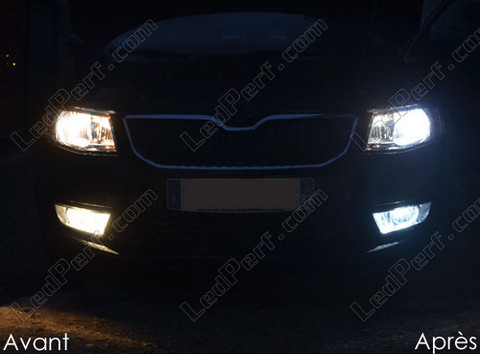 pack headlights xenon effect bulbs for skoda octavia 3. Black Bedroom Furniture Sets. Home Design Ideas