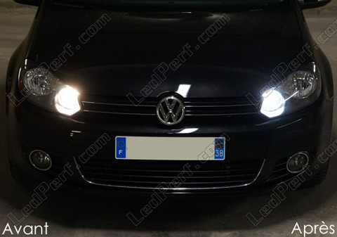 pack daytime drl and hi beam h15 xenon effect bulbs for volkswagen golf 6. Black Bedroom Furniture Sets. Home Design Ideas