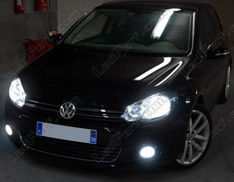 pack headlights xenon effect bulbs for volkswagen golf 6. Black Bedroom Furniture Sets. Home Design Ideas