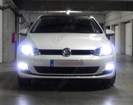 Pack Headlights Xenon Effect Bulbs For Volkswagen Golf 7