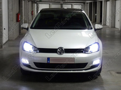 pack headlights xenon effect bulbs for volkswagen golf 7