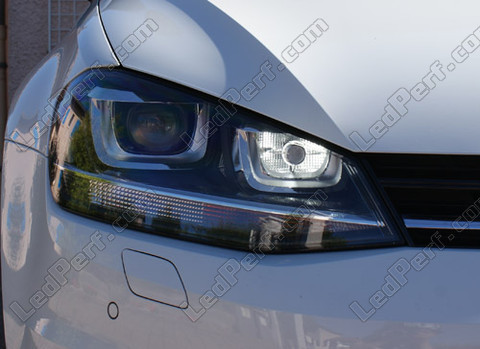 pack led daytime running lights for volkswagen golf 7 drl with bi xenon pxa. Black Bedroom Furniture Sets. Home Design Ideas