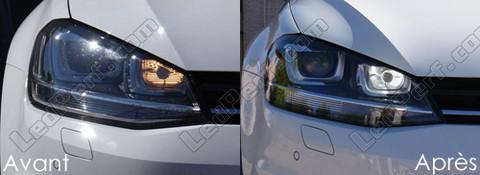 pack led daytime running lights for volkswagen golf 7 drl with bi xenon pxa