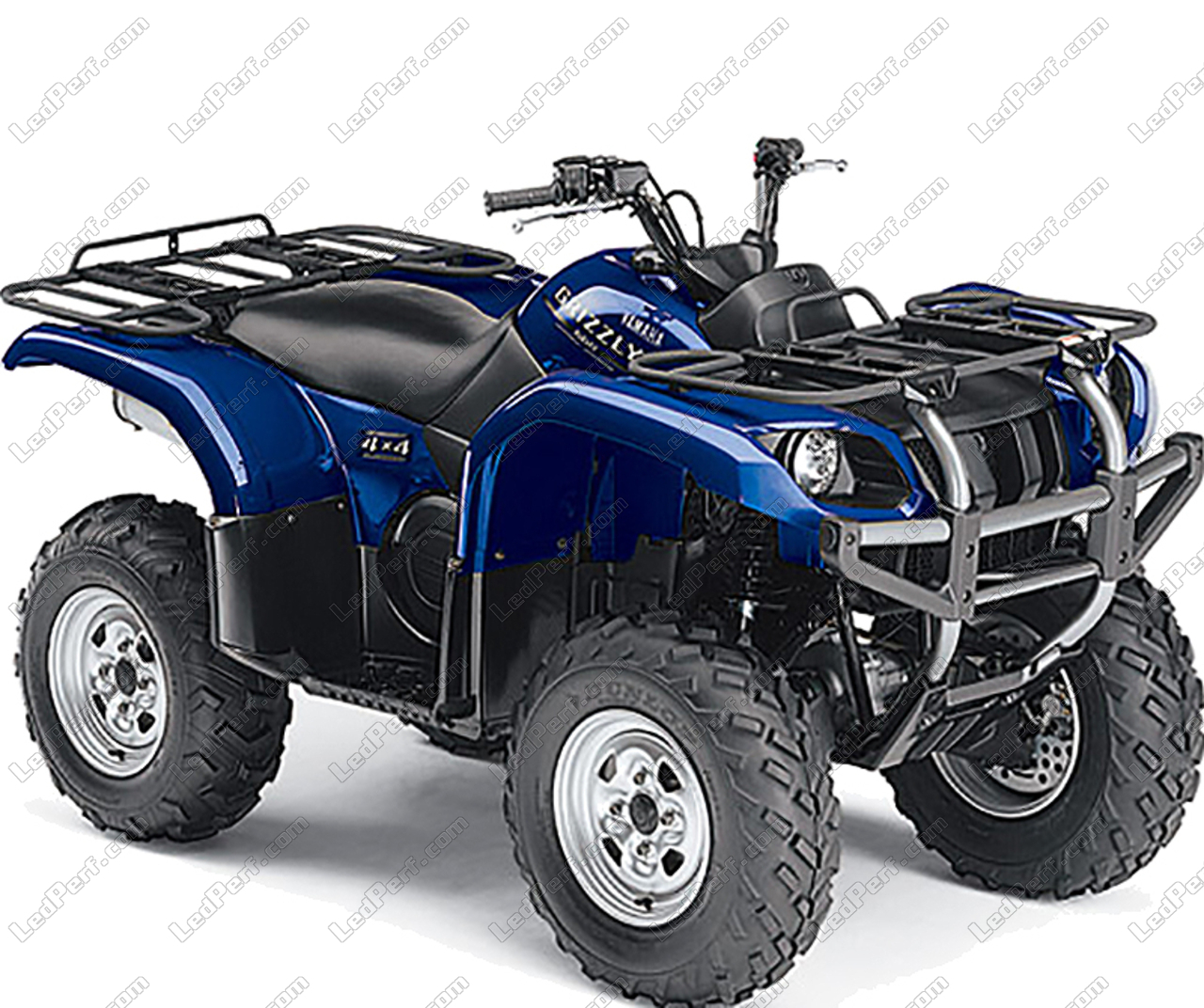 Yamaha Grizzly 660 >> Additional Led Headlights For Atv Yamaha Yfm 660 Grizzly Long Range