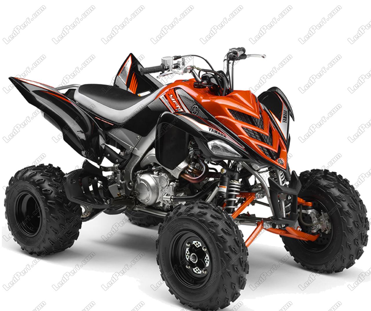 Additional LED headlights for ATV Yamaha YFM 700 R Raptor ... on