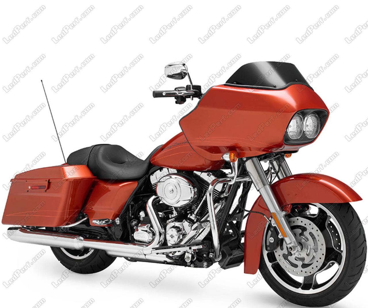 Additional Led Headlights For Motorcycle Harley Davidson Road Glide Custom 1584 1690