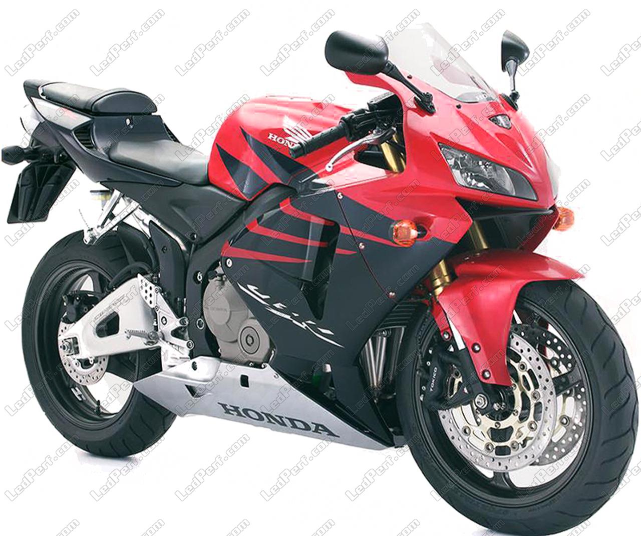 Additional Led Headlights For Motorcycle Honda Cbr 600 Rr 2005 2006 Long Range