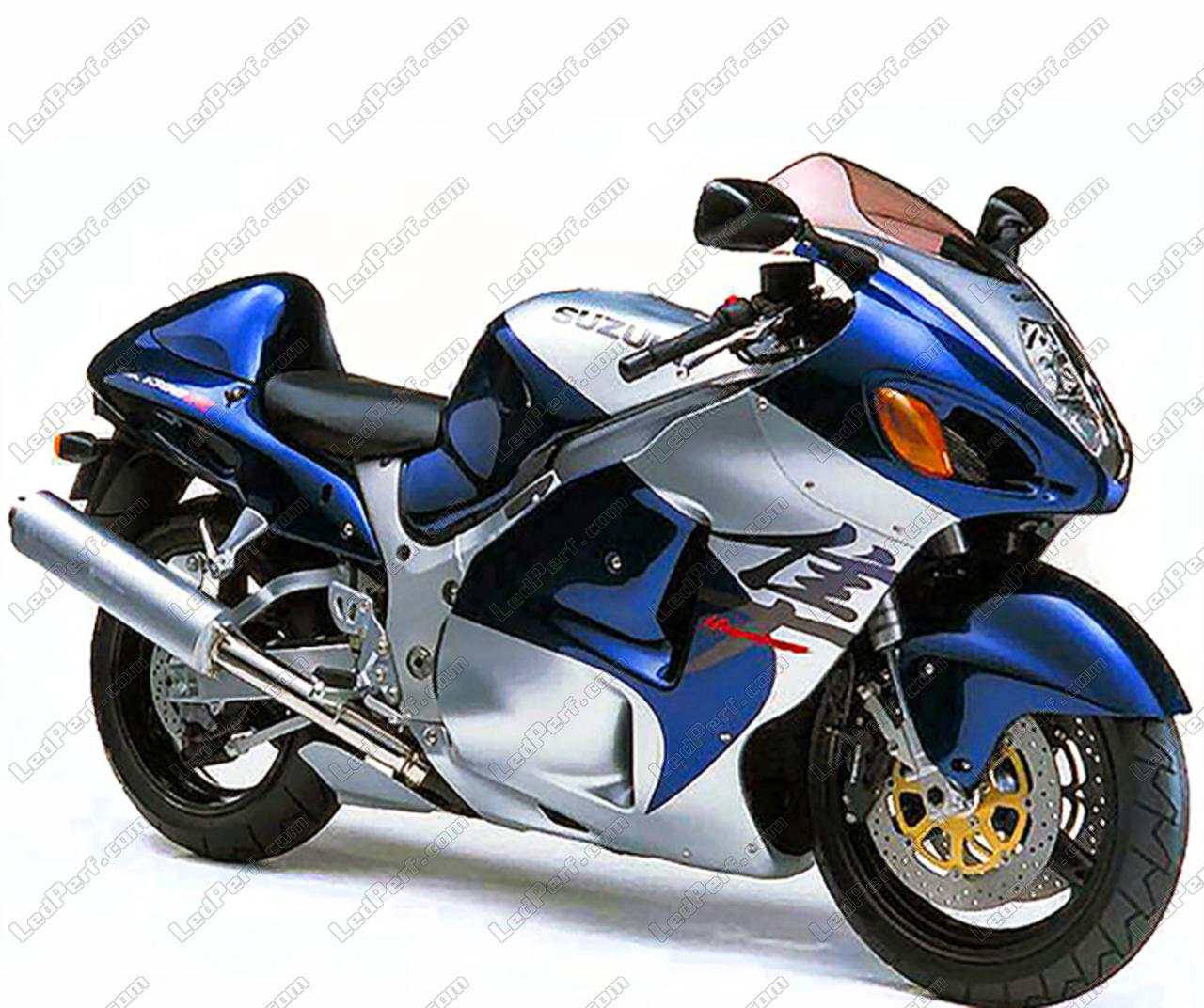 Additional LED headlights for motorcycle Suzuki Hayabusa 1300 (1999 on