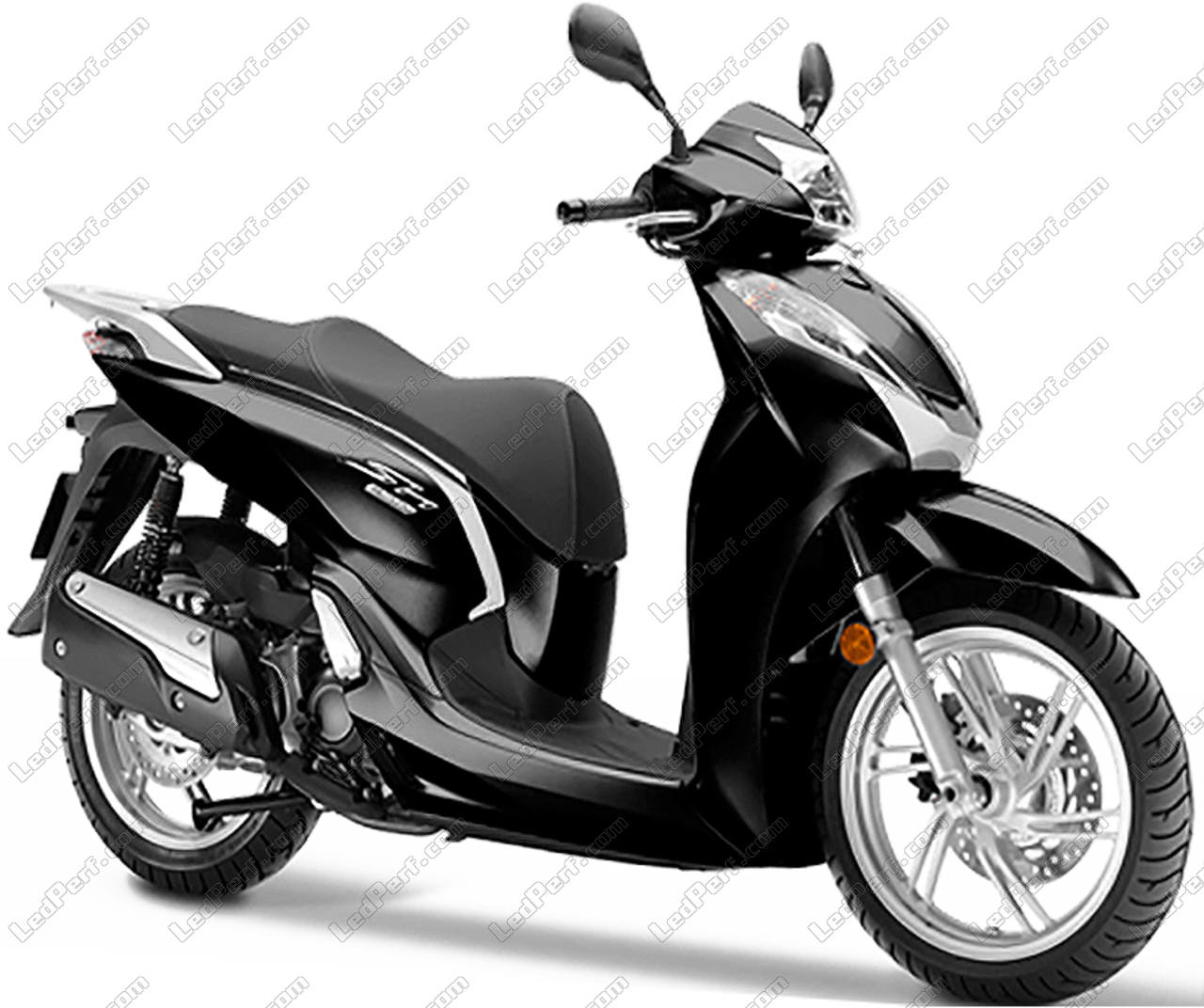Additional Led Headlights For Scooter Honda Sh 300 2015 2018