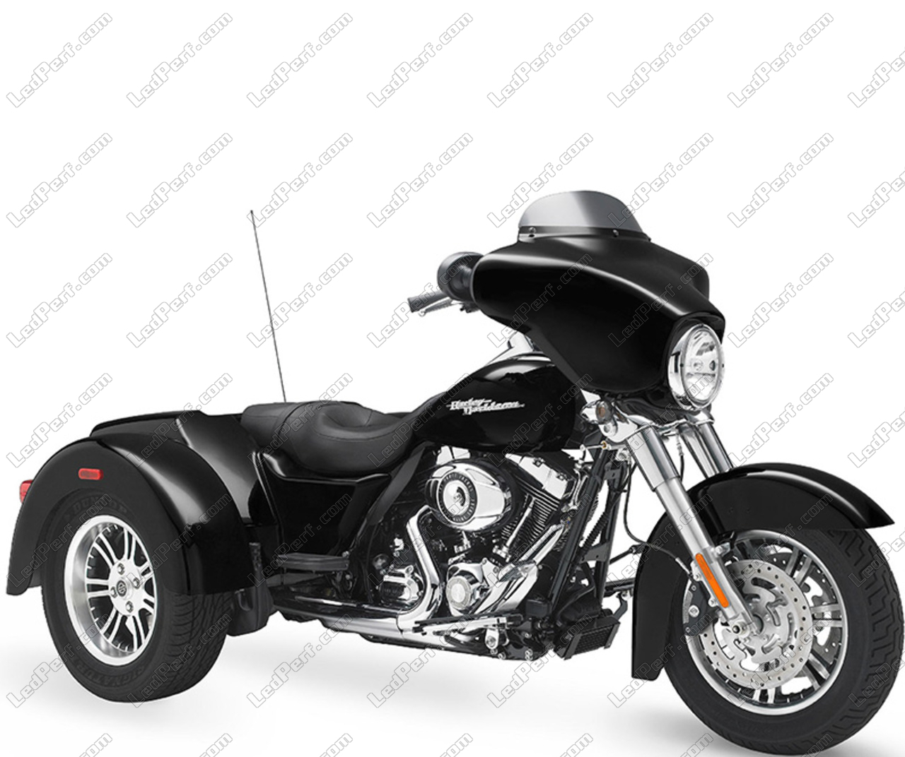 round led headlight for harley davidson street glide trike. Black Bedroom Furniture Sets. Home Design Ideas