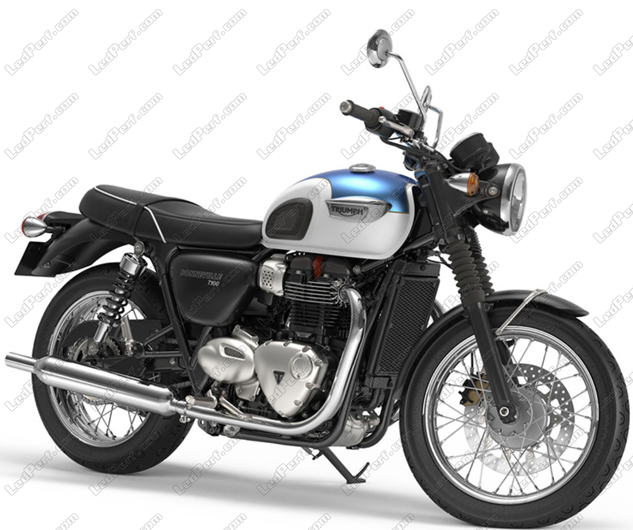 Round Led Headlight For Triumph Bonneville T100 5 Year Warranty