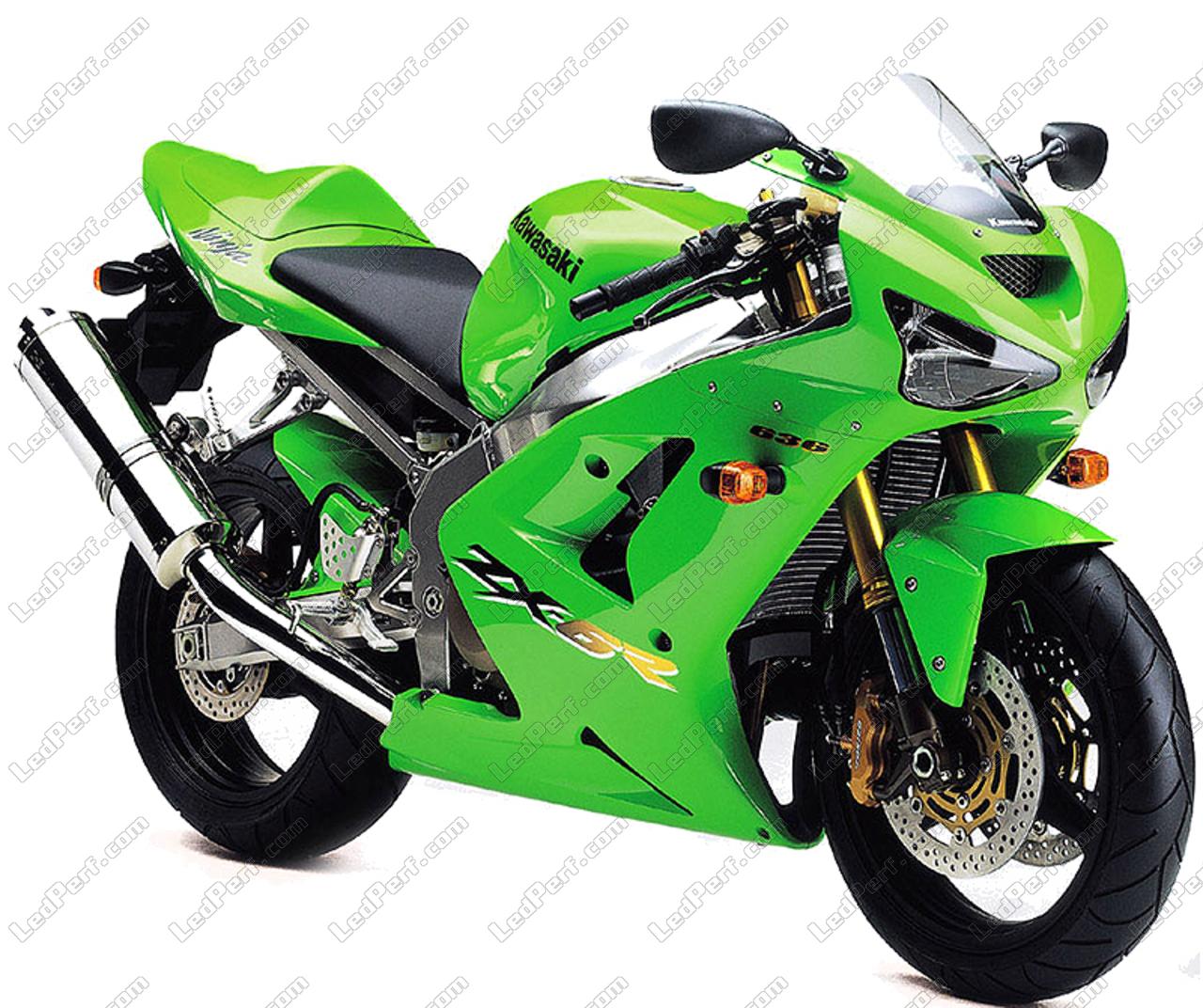 Pack Front Led Turn Signal For Kawasaki Ninja Zx 6r 636 2003 2004