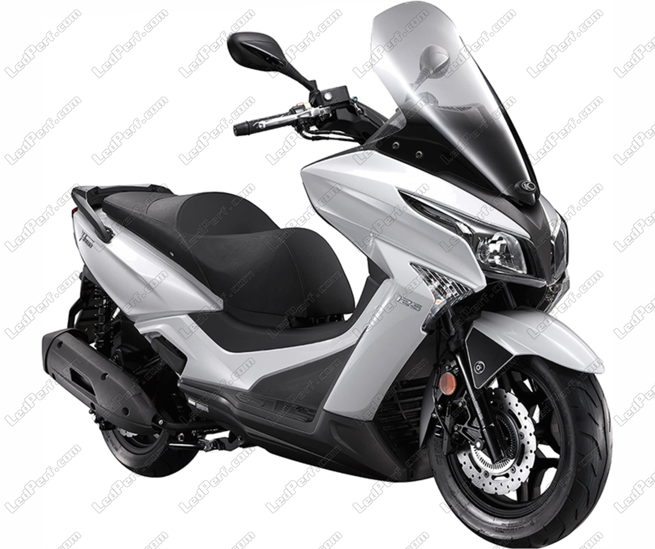 additional led headlights for scooter kymco x town 125. Black Bedroom Furniture Sets. Home Design Ideas