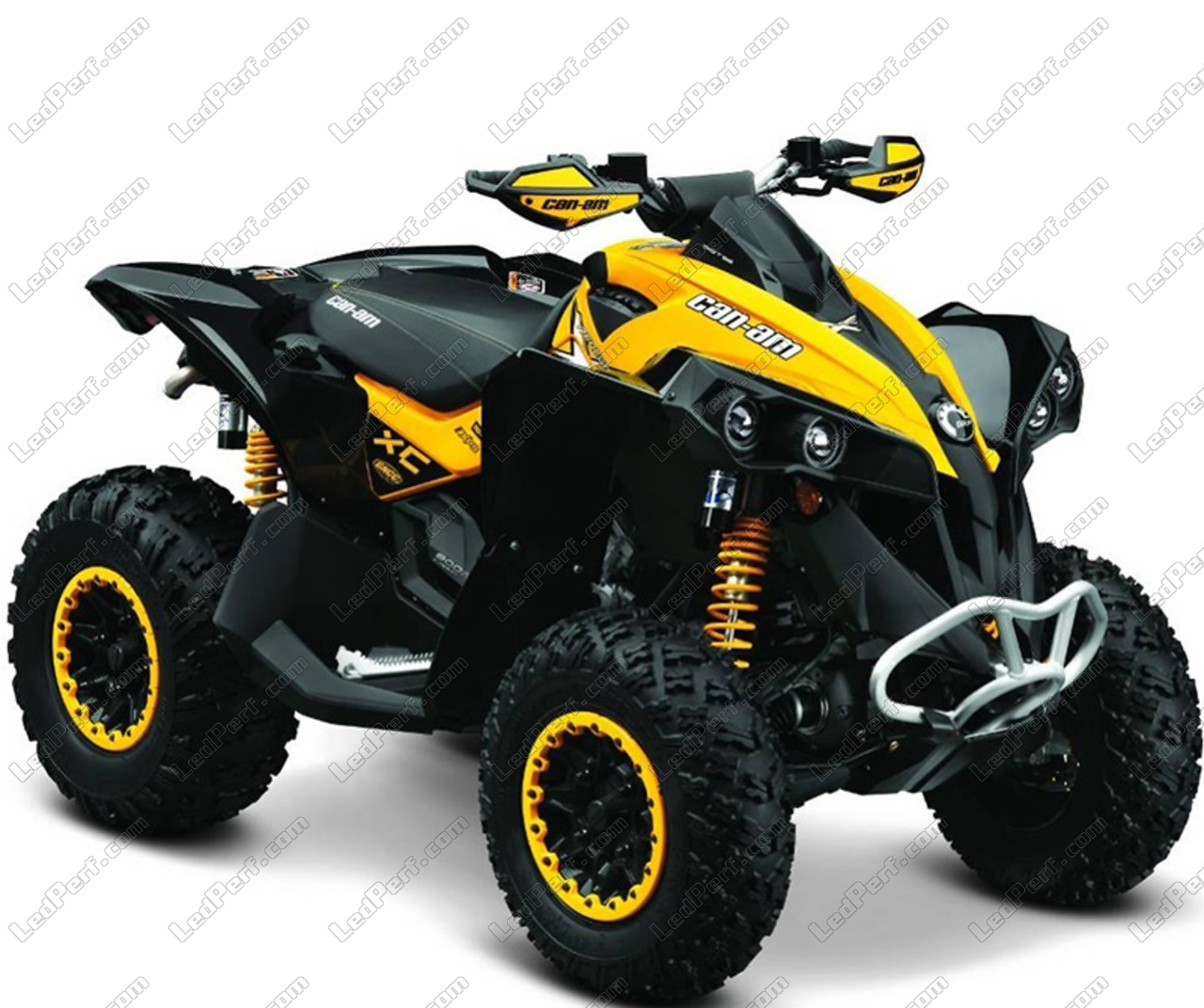 additional led headlights for atv can am renegade 800 g2. Black Bedroom Furniture Sets. Home Design Ideas