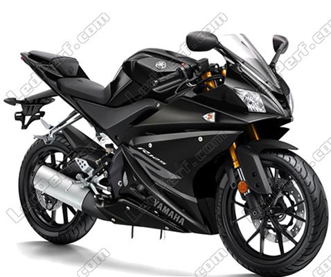 pack headlights xenon effect bulbs for yamaha yzf r125 2014 2017. Black Bedroom Furniture Sets. Home Design Ideas