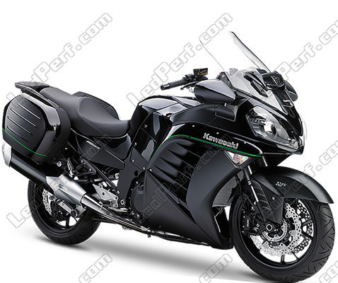 pack front led turn signal for kawasaki gtr 1400. Black Bedroom Furniture Sets. Home Design Ideas
