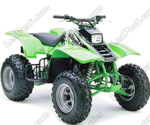 Additional LED headlights for ATV Kawasaki KFX 250