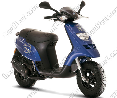 Additional LED headlights for scooter Piaggio Typhoon 50 (1992 - 2010)