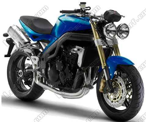 Additional LED headlights for motorcycle Triumph Speed Triple 1050 ...