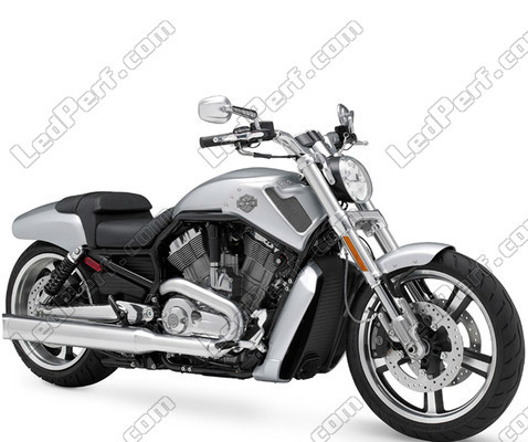 Additional LED headlights for motorcycle Harley-Davidson V-Rod ...