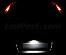 LEDs Pack (white 6000K) license plate Fiat Punto MK2