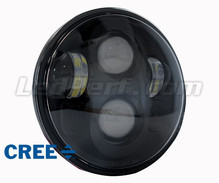 Black Full LED Motorcycle Optics for Round Headlight 5.75 Inch - Type 2