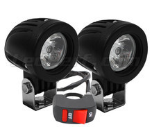 Additional LED headlights for motorcycle Ducati Hypermotard 796 - Long range
