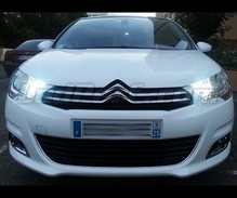 Pack sidelights / daytime running lights super white for Citroen C4 II
