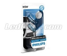 Pack of 2 Philips WhiteVision Sidelights - White - Base W5W
