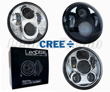 LED headlight for Vespa LXV 50 - Round motorcycle optics approved