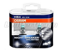 Pack of 2 Bulbs HB4 Osram Night Breaker Unlimited