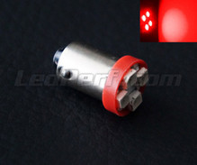 H6W LED - BAX9S Base - Red - Efficacity
