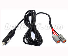 Cigarette plug power wire harness for LED bar and additional LED headlamp - 2 DT connectors