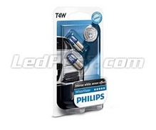 Pack of 2 Philips WhiteVision Sidelights - White - Base T4W