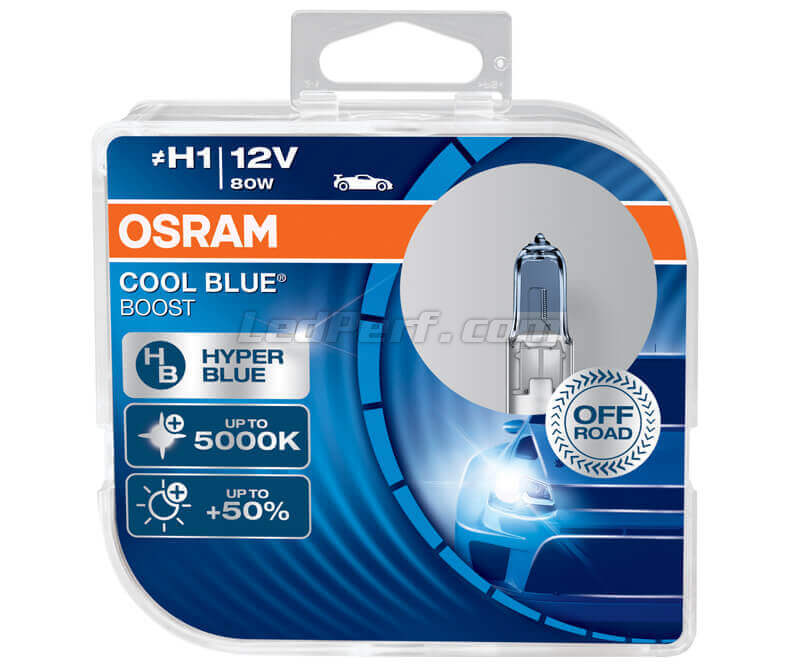 Pack of 2 Osram Cool Blue Boost  H1 bulbs - 5000K - 62150CBB-HCB