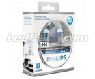 Pack of 2 Philips H4 bulbs WhiteVision + 2 W5W WhiteVision (New!)