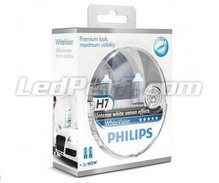 Pack of 2 Philips WhiteVision H7 bulbs + 2 W5W WhiteVision (New!)