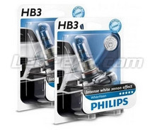 Pack of 2 Philips HB3 bulbs WhiteVision + 2 W5W WhiteVision (New!)