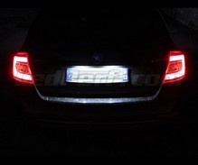 LEDs Pack (white 6000K) license plate for Skoda Fabia 3