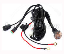 Power wire harness with relay for LED bar and headlight - 1 DT connector - Movable switch
