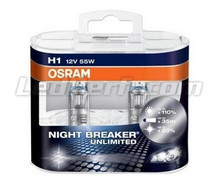 Pack of 2 Bulbs H1 Osram Night Breaker Unlimited
