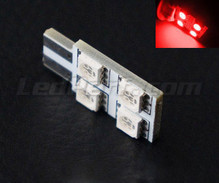 Led T10 Rotation 4 leds HP - lighting side - Red W5W