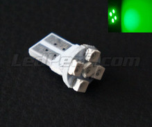 T10 Efficacity bulb with 5 leds TL - Green - w5w