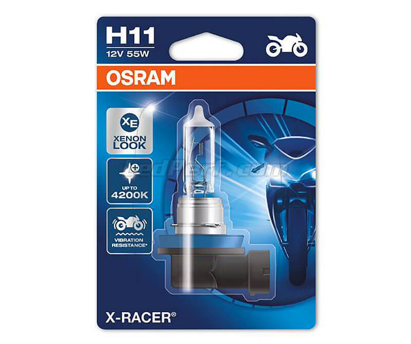 H11 Bulb Osram X-Racer Halogen Xenon Effect for Motorcycle - 55W