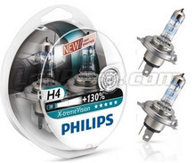 Pack of 2 bulbs H4 Philips X-treme Vision +130% (New!)