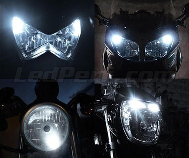 Pack sidelights led (xenon white) for Kawasaki Ninja ZX-6R (2013 - 2016)