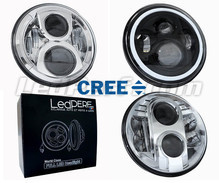 LED headlight for Harley-Davidson Road King Custom 1450 - Round motorcycle optics approved