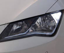 Pack LED daytime running lights (DRL) xenon white for Seat Leon 3 (5F) (without original xenon)